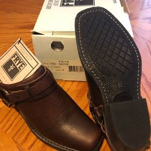FRYE MULE SHOES LEATHER